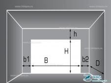 Схема параметров дверного проема для ВД (ОН)